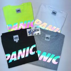 [PANIC39] Rainbow Reflective T-Shirts Type2(Text Logo) (4色)