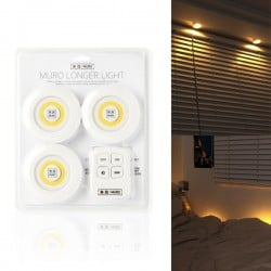[MURO] 智能遙控夜燈 (3個燈泡 + 1個遙控器)