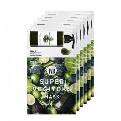 [Wonder Bath] Super Vegitoks Mask Pack Green (Vegeta: 補水&鎮靜)(一盒6片裝)