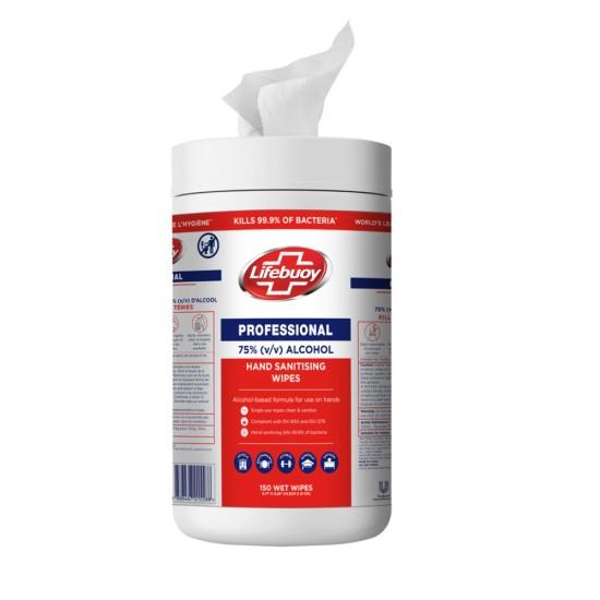 [Lifebuoy] 衛健75%酒精濕紙巾筒裝 (150片)