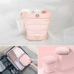 (預購8/12到貨) [Yohome] 日本Yohome 折疊洗衣機(粉紅色)