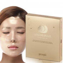 [Petitfee] Gold and Snail Hydrogel Mask Pack 5pcs