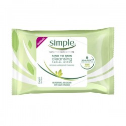 [Simple] Kind to skin Cleansing Facial Wipes 親膚水潤柔絲卸妝濕紙巾 (7片)