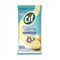 [CIF] 潔而亮多功能抗菌消毒濕紙巾(柑桔) 30s