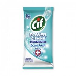 [CIF] 潔而亮多功能抗菌消毒濕紙巾(海洋) 30s
