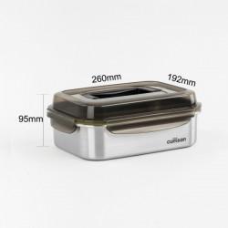 [cuitisan] Signature 不鏽鋼微波爐 保鮮盒 - 手提式長方形 2300ml
