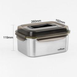[cuitisan] Signature 不鏽鋼微波爐 保鮮盒 - 手提式長方形 3300ml