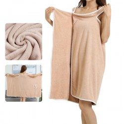 [Ellindo]  微纖維3秒吸濕毛巾裙 (Brown Pocket)