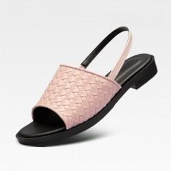 [SNRD] SN259 Handmade Woven Sandals (pink)