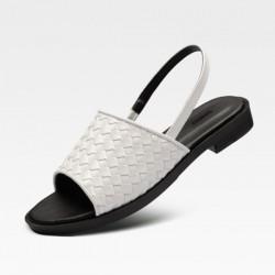 [SNRD] SN259 Handmade Woven Sandals (white)