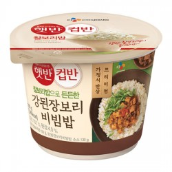 CJ 大醬湯豆腐拌飯 컵반 강된장보리비빔밥