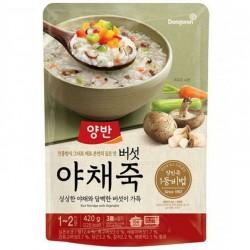 [東遠] 兩班 包裝 野菜粥 420G (양반버섯야채죽)