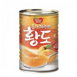 [東遠] 水蜜桃罐頭 410G (지중해황도)