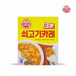 [不倒翁] 3分鐘即食牛肉咖哩 200g (3분쇠고기카레)