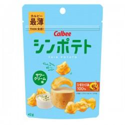 CALBEE 卡樂B 葵花籽油酸忌廉味薄切薯片 42g