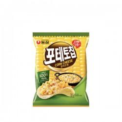 農心 芝士粟米味薯片 농심 포테토칩 콘치즈맛 60g