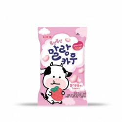 樂天 軟綿綿牛奶糖(草莓牛奶味) 롯데 말랑카우 딸기 79g