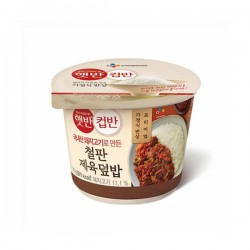 CJ 鐵板辣炒豬肉飯 컵반 철판 제육덮밥