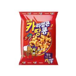 CROWN 焦糖爆谷花生 카라멜콘 땅콩 72g