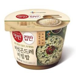 CJ 醬油蘑菇山薊菜飯 컵반 버섯 곤드레 비빔밥