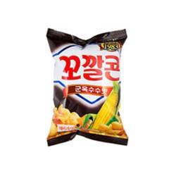 Lotte 樂天  燒烤味粟米脆筒( 꼬깔콘군옥수수맛 ) 72g