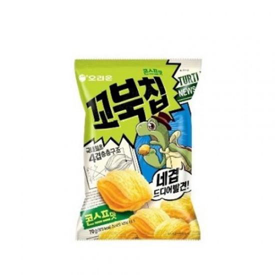 Orion 烏龜玉米脆餅 粟米湯味 65g (꼬북칩콘스프맛)